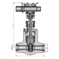 高温高压电动焊接球阀