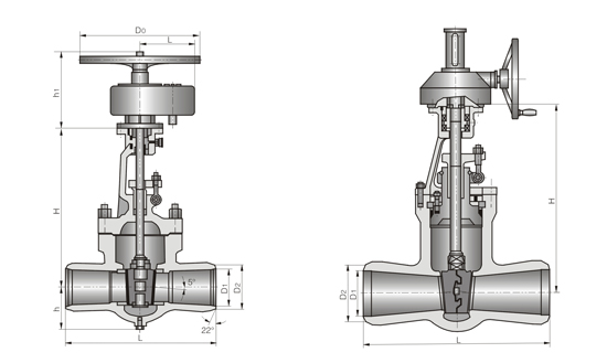 正齿轮传动焊接闸阀